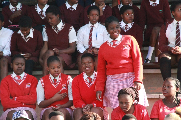 Young women and girls at the launch